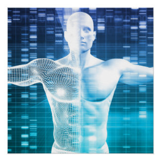 Poster Codage et code génétique d'ADN comme Science