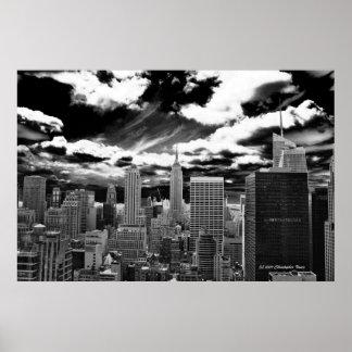 Poster Coeur de Manhattan - plaza de 30 Rockefeller
