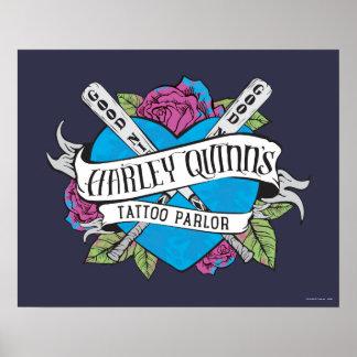 Poster Coeur de salon de tatouage du suicide peloton |