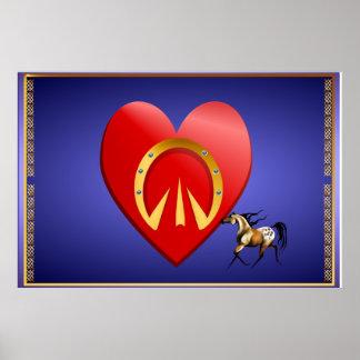 """Poster Coeur du cheval """"n"""""""