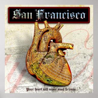 Poster Coeur perdu à San Francisco