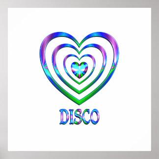 Poster Coeurs de disco