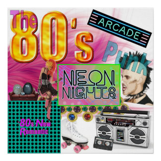 Poster collage 80s