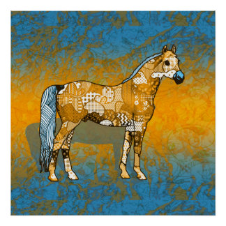 Poster Collage abstrait Beaumont le cheval ID109