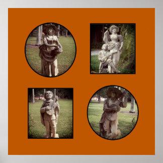 Poster Collage fait sur commande orange brûlé de photo