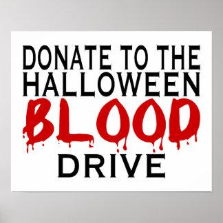 Poster Collecte de sang de Halloween