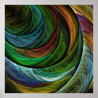 Poster Colorez la copie d'art abstrait de gloire