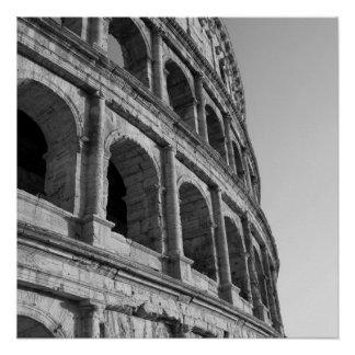 Poster Colosseum à Rome. Amphithéâtre romain monumental