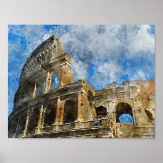Poster Colosseum antique à Rome Italie