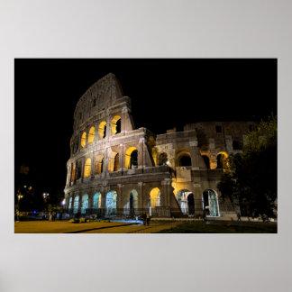 Poster Colosseum la nuit