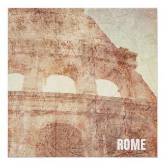 Poster Colosseum romain vintage