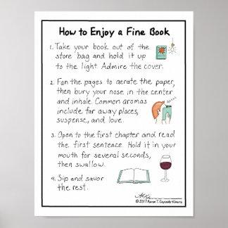 Poster Comment apprécier une copie fine de livre