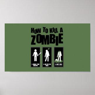 Poster Comment tuer un zombi