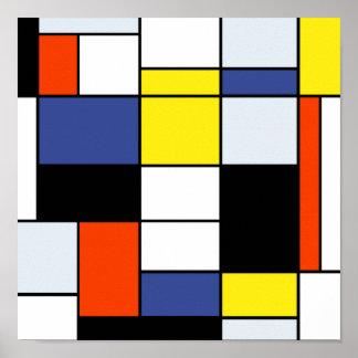 Poster Composition A - art moderne abstrait en Piet