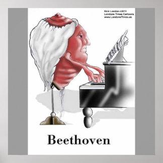 Poster Concepteur de Beethoven/copie drôles affiche de ba
