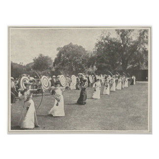 Poster Concurrence de tir à l'arc de 1904 dames