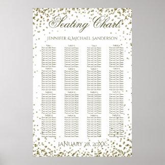 Poster Confettis d'or de diagramme d'allocation des