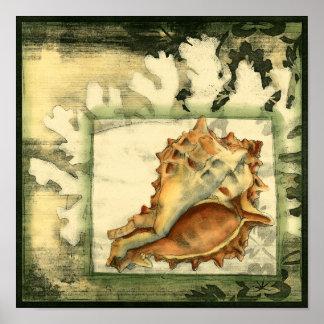 Poster Conque Shell de silhouette