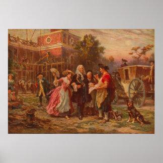 Poster Construction du berceau de la liberté Jean Gerome