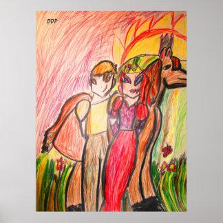 Poster conte de fées Valentine