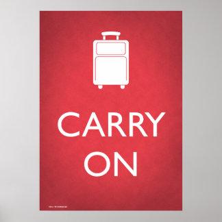Poster Continuez l'affiche drôle de bagage