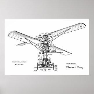 Poster Copie 1925 de dessin d'art de brevet d'avions