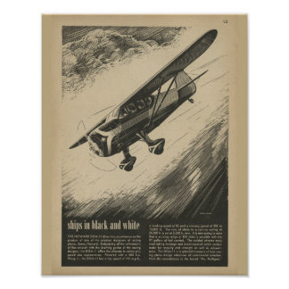 Poster Copie 1938 d'art de Howard DGA-11 d'avion