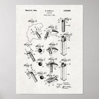 Poster Copie 1944 de brevet de rouge à lèvres