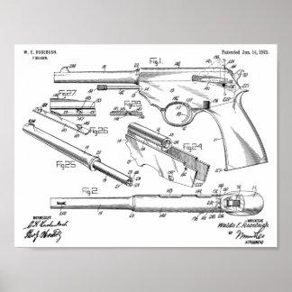 Poster Copie automatique de dessin d'art de brevet de