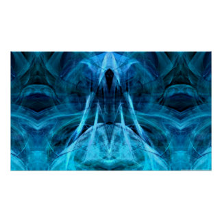 Poster Copie croissante d'Aqua d'esprit