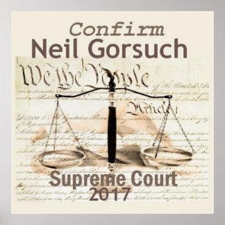 Poster Copie d'AFFICHE de court suprême de Neil GORSUCH