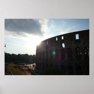 Poster Copie d'affiche de Rome Colosseum