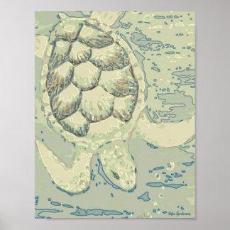 Poster Copie d'affiche de Semi-Lustre de la tortue 8.5x11