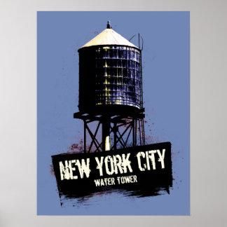 Poster Copie d'affiche de tour d'eau de New York City