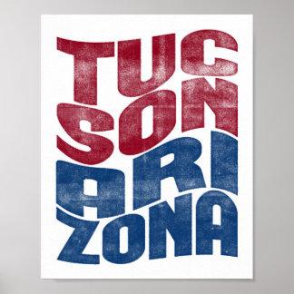 Poster Copie d'art de cité d'affiche de Tucson Arizona