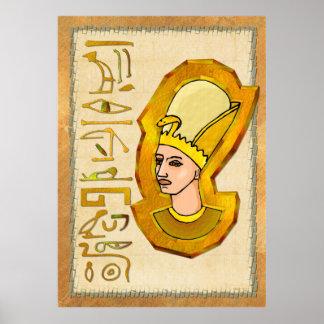 Poster Copie d'art populaire de hiéroglyphes de pharaon