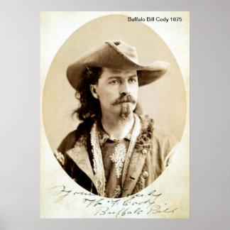 Poster Copie de Buffalo Bill Cody 1875