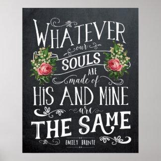 Poster Copie de citation d'Emily Bronte