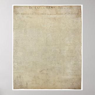Poster Copie de déclaration d'indépendance