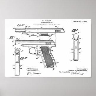 Poster Copie de dessin d'art de brevet de l'arme à feu