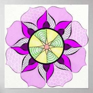 Poster Copie de fleur de mandala