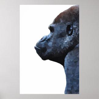 Poster Copie de gorille. Animal abstrait moderne. Art de