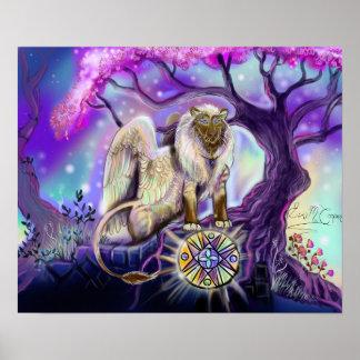 Poster Copie de Lion~art de ciel