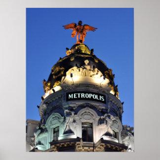 Poster Copie de Madrid Espagne de métropole