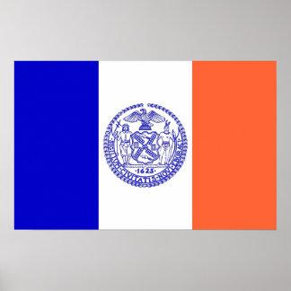 Poster Copie de toile avec le drapeau de New York,