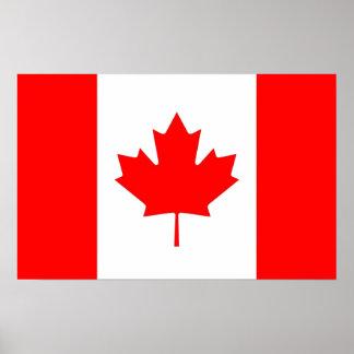 Poster Copie de toile avec le drapeau du Canada