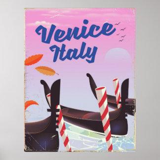 Poster Copie de vacances de gondole de Venise Italie