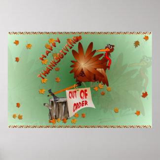 Poster Copie en panne heureuse de thanksgiving