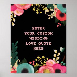 Poster Copie faite sur commande de citation d'amour de