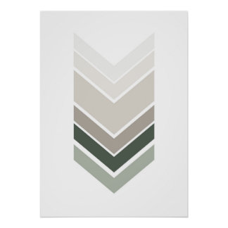 Poster Copie grise abstraite. Art géométrique moderne de